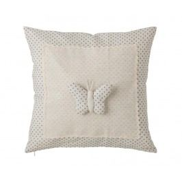 Dekorační polštář Dots Butterfly 40x40 cm