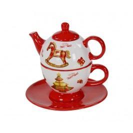 Sada čajník se šálkem a podšálkem Rocking Horse