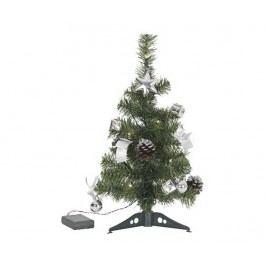 Umělý vánoční stromek s LED diodami Decorage Silver 45 cm