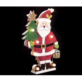 Světelná dekorace Santa with Xmas Tree