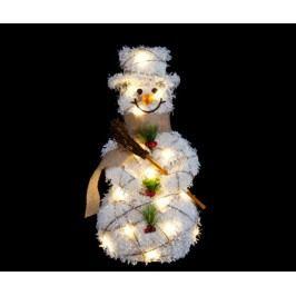 Světelná dekorace Happy Snowman