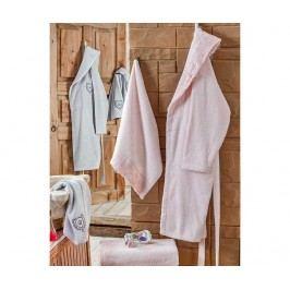 Sada 2 županů a 4 ručníků Deny Pink and Grey