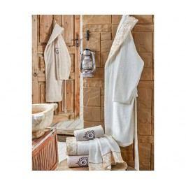 Sada 2 županů a 4 ručníků Ceny Ecru and Beige