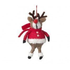 Závěsná dekorace Reindeer Red Coat