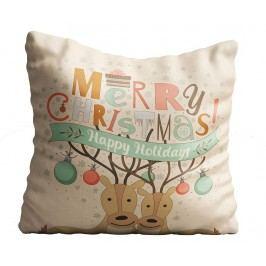 Dekorační polštář Happy Holidays 43x43 cm