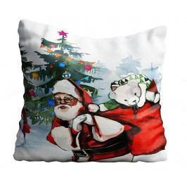 Dekorační polštář Santa & Snowman 43x43 cm