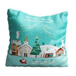 Dekorační polštář Santa in Town 43x43 cm