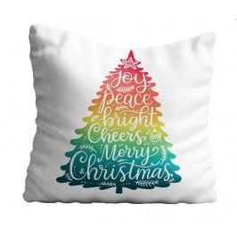 Dekorační polštář Rainbow Christmas Tree 43x43 cm