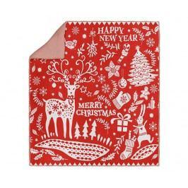 Deka Christmas Swirls 120x170 cm