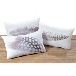 Sada 3 dekoračních polštářů Feather 30x50 cm