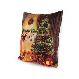 Sada 2 povlaků na polštáře s LED diodmi Christmas Tree 40x40 cm