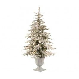 Umělý vánoční stromek s LED osvětlením v květináči Woodland 160 cm
