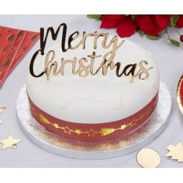 Dekorace na dort Merry Christmas Vánoční dekorace