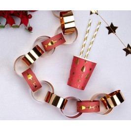 Sada 50 pásků na girlandu Golden Christmas