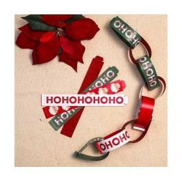 Sada 100 pásků na girlandu Ho Ho Ho Santa