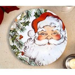Sada 8 talířů na jednorázové použití Santa Time