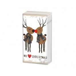 Sada 10 ubrousků Love Christmas