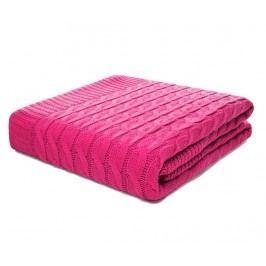 Pléd Braid Neon Pink 130x170 cm