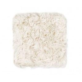 Polštář na sezení Fluffy White 40x40 cm