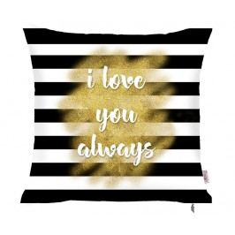 Povlak na polštář I Love You Always Stripes 43x43 cm