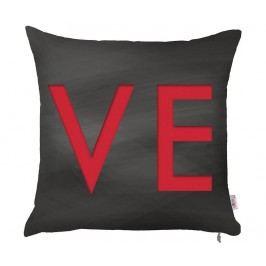 Povlak na polštář Love Completes Me Black 43x43 cm