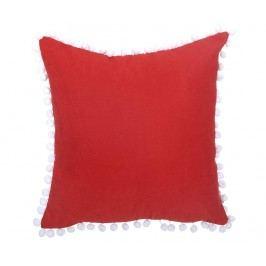 Povlak na polštář Pom Pom Plain Red 43x43 cm