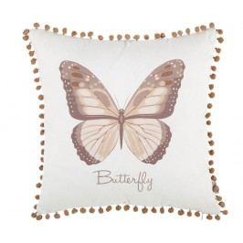 Povlak na polštář Pom Pom Butterfly Taupe 43x43 cm