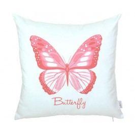 Povlak na polštář Butterfly Hot Pink 43x43 cm