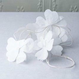 BLOSSOM Květinová girlanda 3m - bílá