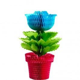 BLOSSOM Papírová dekorační květina - tyrkysová