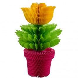 BLOSSOM Papírová dekorace květina - žlutá