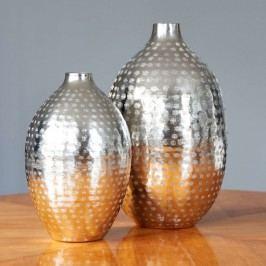 INDIRA Váza poniklovaný hliník 27 cm