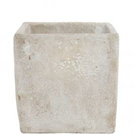 FLORAL BASIC Květináč z betonu čtvercový, 13 cm