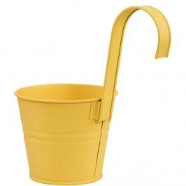 ZINC Květináč k zavěšení 13 cm - žlutá