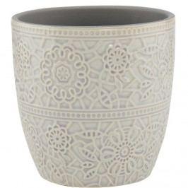 BLOOMY Květináč 13,5 cm - šedá Dekorativní vázy