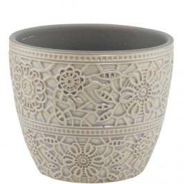 BLOOMY Květináč 10,8 cm - šedá Dekorativní vázy