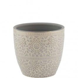 BLOOMY Květináč 7,8 cm - šedá Dekorativní vázy