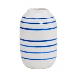 LILIPOT Váza pruhovaná - bílá/modrá