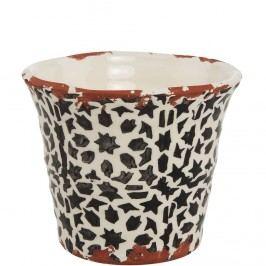 TERRACOTTA Květináč 11 cm - černá/bílá Dekorativní vázy