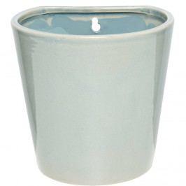 GLAZE Závěsný květináč 16 cm - šedomodrá