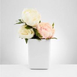 BELLE BLANC Váza hranatá 19 cm