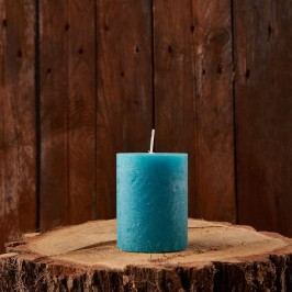 RUSTIC Svíčka 9 cm - petrolejová Dekorativní svíčky