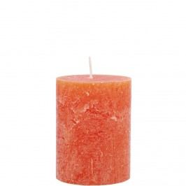 RUSTIC Svíčka 9cm - oranžová Dekorativní svíčky
