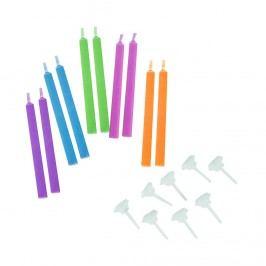 COLOUR GLOW Svíčky na dort 10 ks - mix Dekorativní svíčky