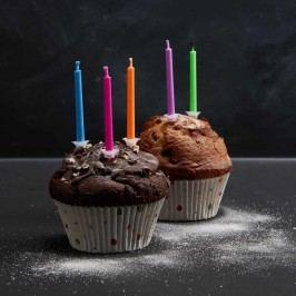 Obrázek COLOUR GLOW Svíčky na dort 10 ks - mix Dekorativní svíčky