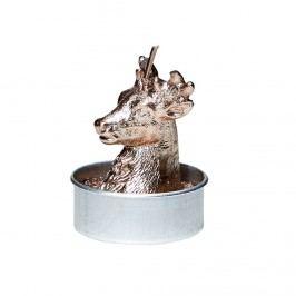 Obrázek FLAMBEAU Čajová svíčka jelen 6 ks - stříbrná Dekorativní svíčky