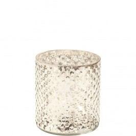 DELIGHT Svícen na čaj. svíčku 8cm - stříbrná