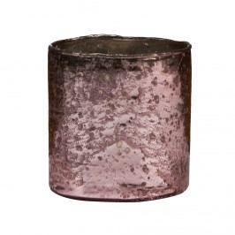 DELIGHT Skleněný votivní svícen 10 cm - růžová