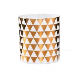 DELIGHT Votivní svícen se zlatými trojúhelníky 8 cm