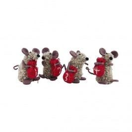 ADVENT Dekorační myšky 1-4 Vánoční dekorace